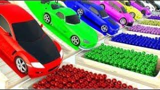 kids games  superhero  cars lightning mcqueen racing   baby bus tv