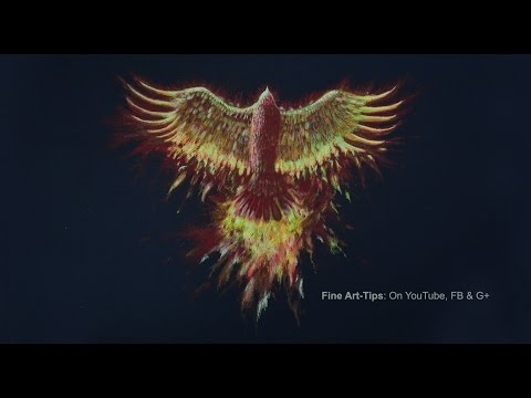 How to Draw a Phoenix Bird With Color Pencils