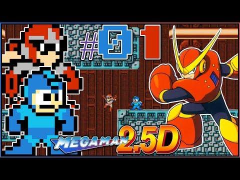 QUICK MANS STAGE COOP Mega Man 2.5D Complete Build Mega Man and Proto Man Part 1 - DarkLightBros