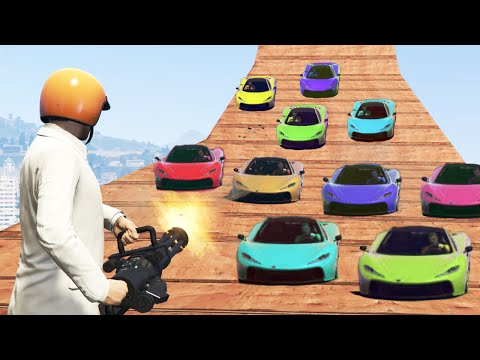 KILL THE SUPER CAR HORDE! (GTA 5 Funny Moments)