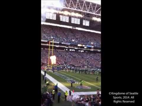 Seattle Seahawks Super Bowl 48 Championship Banner Ceremony