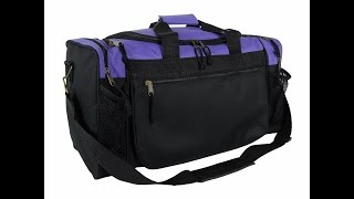 "DALIX 19"" Gym Duffel Bag with Water Bottle / Valuables Soft Side Pockets"