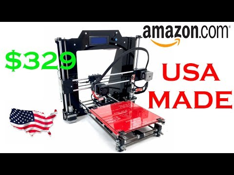 REPRAPGURU Prusa I3 3D Printer Unboxing and Build.  USA Made Amazon 3D Printer.