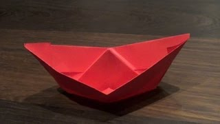 Origami Boat That Really Floats On Water