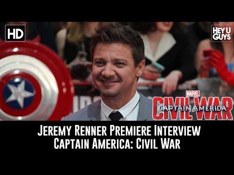 Jeremy Renner Premiere Interview - Captain America: Civil War