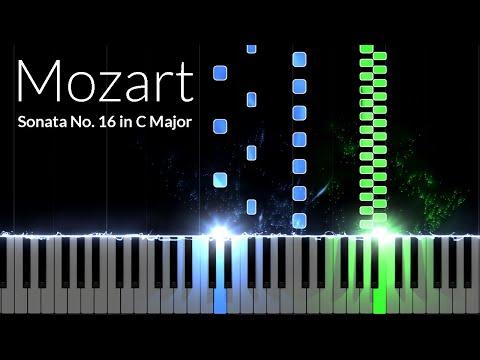 Sonata No. 16 in C Major 1st Movement - Wolfgang Amadeus Mozart [Piano Tutorial] (Synthesia)