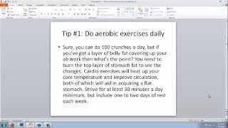 Flat Stomach Tips part 2: Exercising for a flat stomach