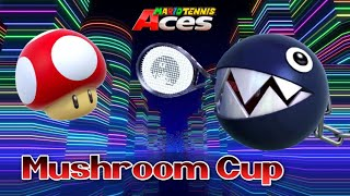 Mario Tennis Aces: Mushroom Cup w/Chain Chomp Gameplay