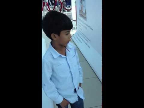 ALBAIK CSR Environmental Anti Littering Booth at Red Sea Mall   Rayan reciting the pledge 2013