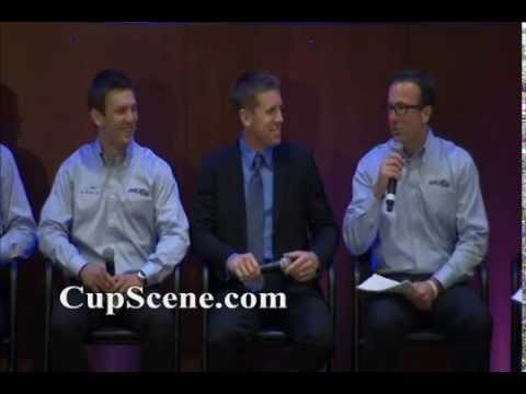 Joe Gibbs Racing announcement Tue. Aug. 19,2014: Carl Edwards, Daniel Suarez