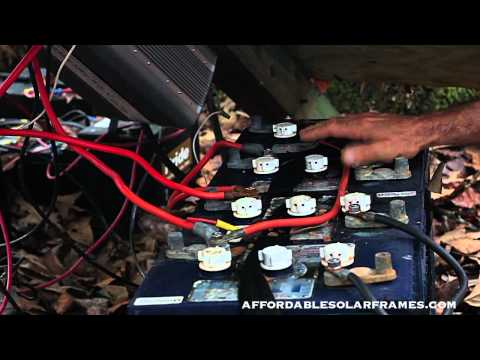 How to connect solar panels to battery bank. charge controller. Inverter