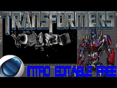 Descargar y Personalizar Intro Editable Transformers Cinema 4D FREE 2014