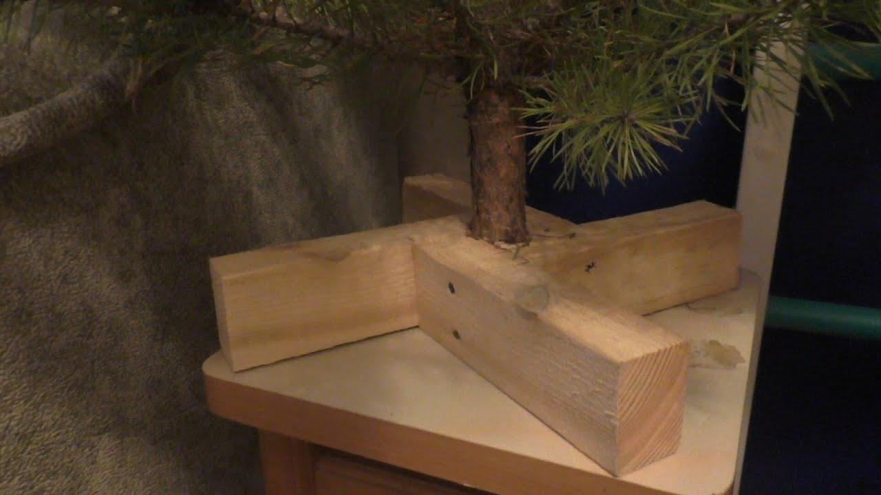 Подставка под ёлку из дерева своими руками
