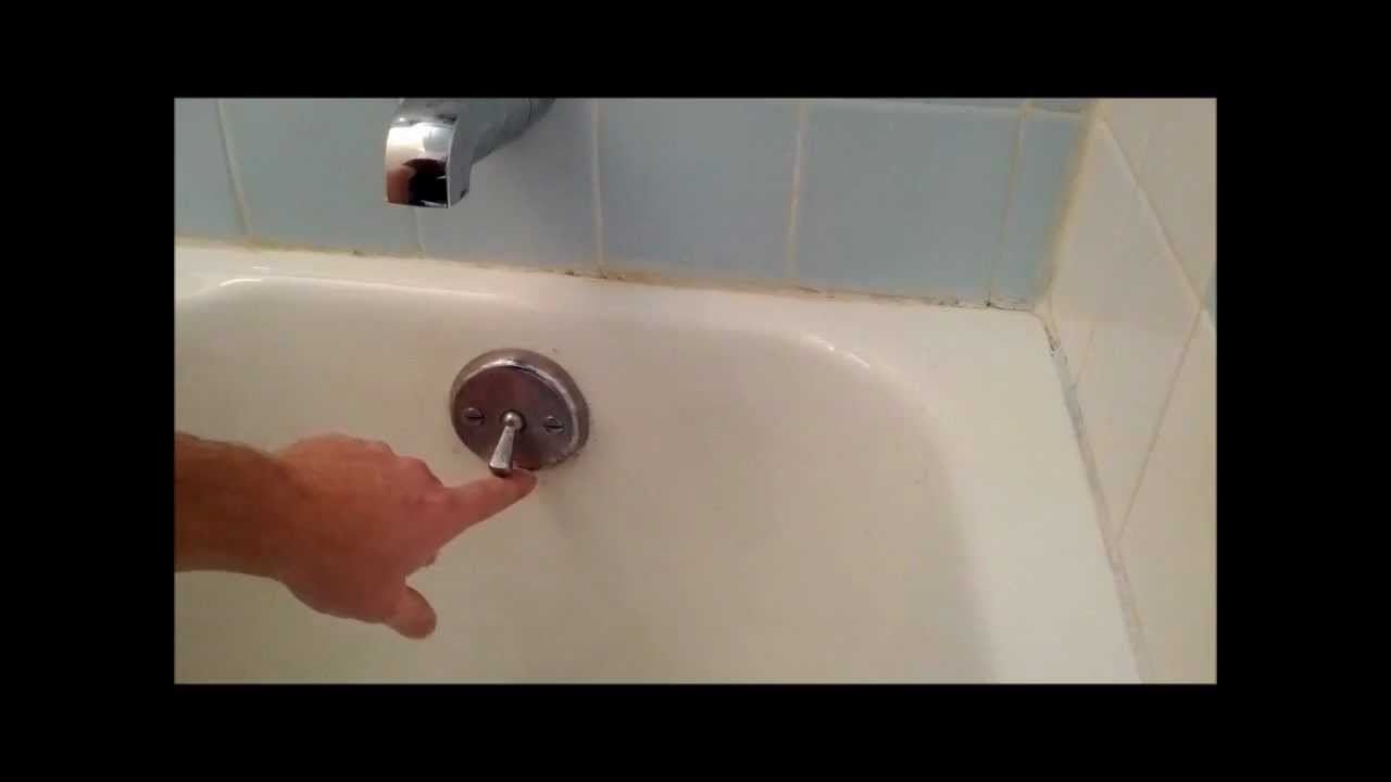Bath Tub Trip Lever Bath Tub Stopper Replacement Or Adjustnment YouTube