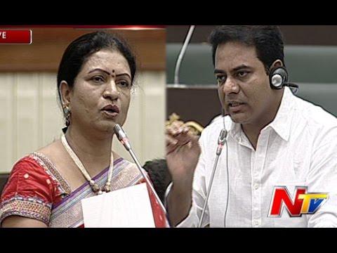 War of Words Between KTR and DK Aruna in Telangana Assembly