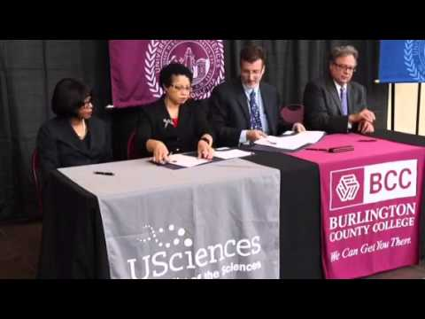USciences and Burlington County College Formalize Transfer Agreement