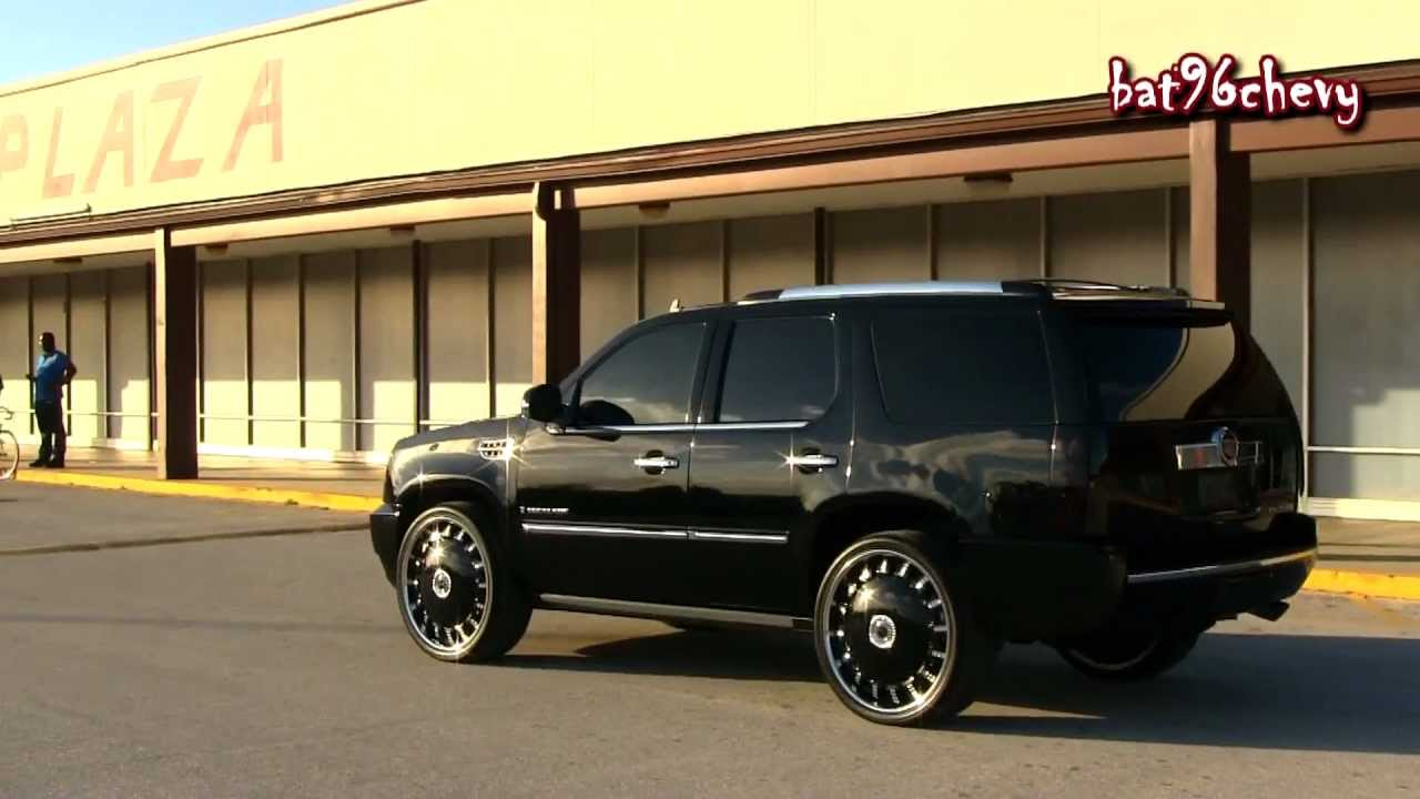 All Black Cadillac Escalade On 26 Quot Dub Opera Floaters