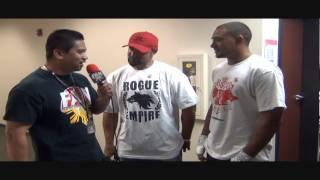 UFC fighter Eugene Jackson and his son Nikko Jackson interview
