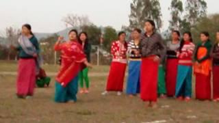 Luwangsangbam Mou dancing at yaoshang sports
