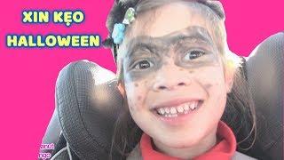BÉ PEANUT ĐI XIN KẸO HALLOWEEN Ở MỸ (bé Peanut's Vlog) Cuộc sống trẻ em ở Mỹ