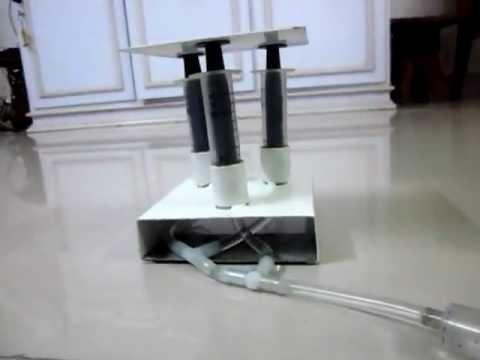 Hydraulic Lift Demonstration Model Yashwanthi Youtube