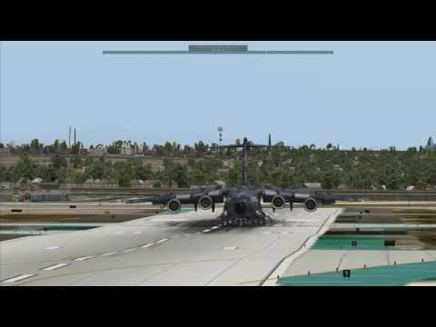 Landing at Los Angeles International Airport ( KLAX )