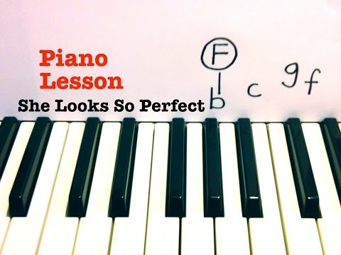 She Looks So Perfect ★ Piano Lesson ★ 5 Seconds of Summer  ★  (Todd Downing)