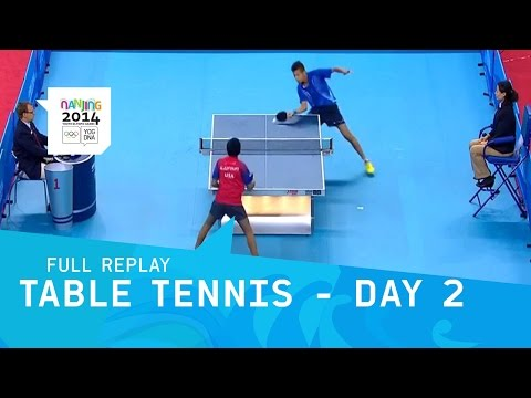 Table Tennis - Day 2 Round 3 Men/Women Singles | Full Replay | Nanjing 2014 Youth Olympic Games