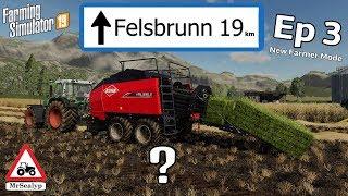 FELSBRUNN, Ep 3, PS4, Farming Simulator 19, New Farmer Mode, Let's Play.