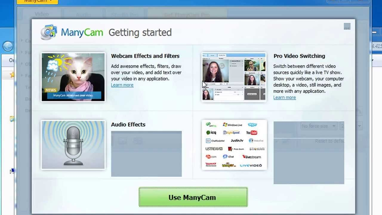 Manycam for chatting on multiple cams software free for Free internet cam