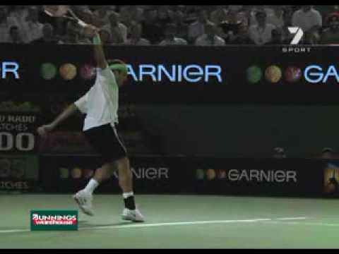 Roger Federer - Slow Motion Topspin Backhand
