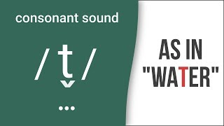 "Consonant Sound Flap 'T' / t̬ / as in ""water"" – American English Pronunciation"