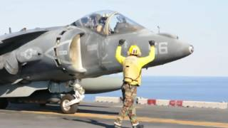 USS Wasp Operation Odyssey Lightning AV-8B Harrier Operations Aug 17, 2016