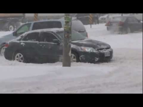 SNOW STORM HIT TORONTO IN FEB 2013..