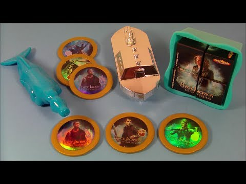 2013 PERCY JACKSON SEA OF MONSTERS SET OF 4 CARL'S Jr. MOVIES TOY'S VIDEO REVIEW