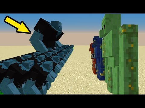 МОД НА НУБ против 1000 КЛОНОВ МЕРЗЛЫХ ЗОМБИ и ОГРОМНЫЕ  ГОЛЕМЫ в Троллинг НУБА в Minecraft Серия 08