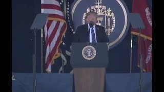 Trump Speaks At US Naval Academy Graduation