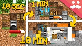 Minecraft BUNKER: 10 Minutes, 1 Minute, 10 SECONDS!