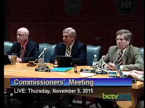 County of Berks Commissioners' Meeting. November 5th, 2015