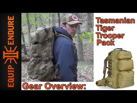 Tasmanian Tiger Trooper Pack. Overview by Equip 2 Endure
