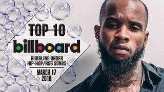 Top 10 • US Bubbling Under Hip-Hop/R&B Songs • March 17, 2018   Billboard-Charts