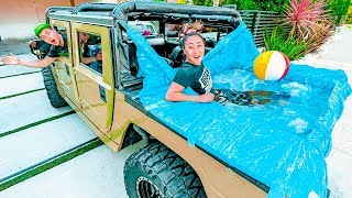I PUT A HOT TUB IN HIS HUMMER!!