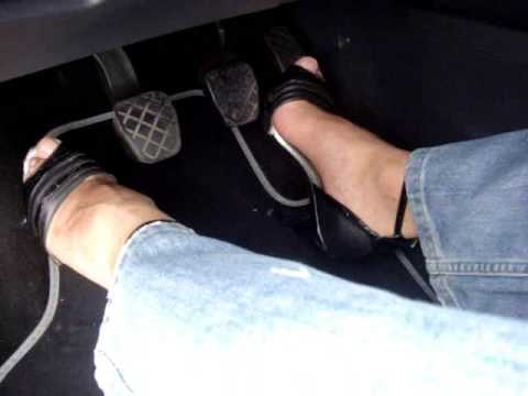 Pedal Pumping Hot Black Heels