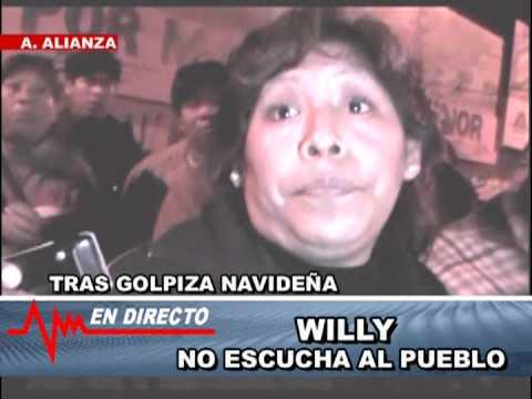 WILLY MENDEZ... NO ESCUCHA... COMERCIANTES MASACRADOS EN NAVIDAD