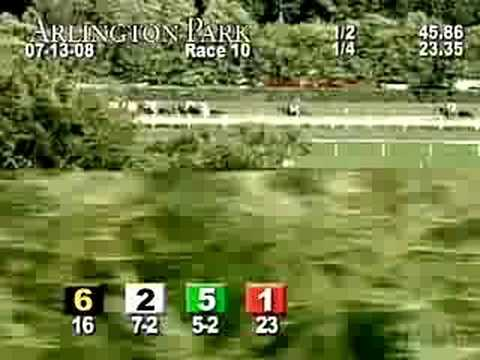 ARLINGTON PARK, 2008-07-13, Race 10 Video