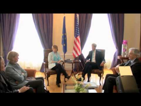 Iran Talks : Bilateral meeting between HRVP Catherine Ashton & US State Secretary, John Kerry