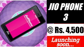 Jio Phone 3 price,Launch date in India  Specification & official details in Hindi.