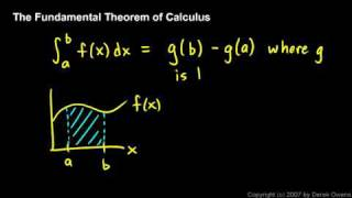 Calculus - The Fundamental Theorem, Part 1