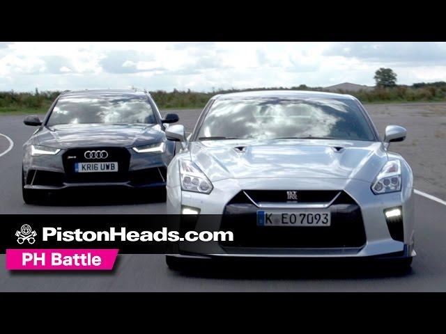 2017 Nissan GT-R vs Audi RS6 Avant Performance - YouTube