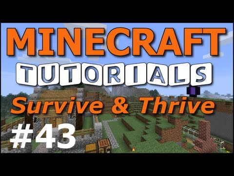 Minecraft Tutorials - E43 Melon and Pumpkin Farm (Survive and Thrive II)